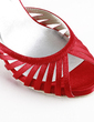 Women's Satin Cone Heel Peep Toe Platform Sandals (047016562)