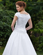 Ball-Gown Sweetheart Chapel Train Taffeta Wedding Dress With Ruffle Beading (002001623)