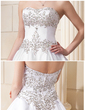 Ball-Gown Sweetheart Chapel Train Satin Wedding Dress With Embroidered Beading Sequins (002011761)