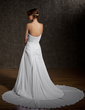 A-Line/Princess V-neck Chapel Train Chiffon Wedding Dress With Ruffle Lace Beading (002011408)