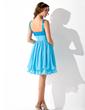 Çan/Prenses Kalp Kesimli Diz Hizası Chiffon Sequined Mezunlar Gecesi Elbisesi Ile Büzgü (022013850)