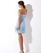 Sheath/Column Sweetheart Asymmetrical Chiffon Homecoming Dress With Ruffle Beading Sequins (022009814)