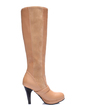 Leatherette Stiletto Heel Knee High Boots With Buckle shoes (088056748)