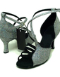 Women's Sparkling Glitter Sandals Latin Ballroom Dance Shoes (053008215)