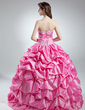 Ball-Gown Sweetheart Floor-Length Taffeta Quinceanera Dress With Ruffle Beading Appliques Lace Sequins (021016032)