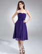 A-Line/Princess Sweetheart Knee-Length Chiffon Homecoming Dress With Ruffle (022009354)