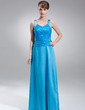 A-Line/Princess V-neck Floor-Length Charmeuse Lace Mother of the Bride Dress With Beading Sequins (008006432)