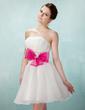 Çan/Prenses Kalp Kesimli Kısa/Mini Organza Mezunlar Gecesi Elbisesi (022010102)