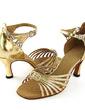 Kadın Rugan Topuk Sandalet Latin Dans Ayakkabıları (053013016)