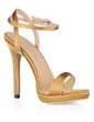 Women's Silk Like Satin Stiletto Heel Sandals Slingbacks With Buckle (047016486)
