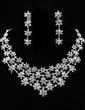 Snowflakes Shaped Alloy/Rhinestones Ladies' Jewelry Sets (011019345)