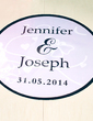 Personalized Butterfly PVC Dance Floor Decals (118033738)