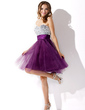 Empire Sweetheart Knee-Length Tulle Cocktail Dress With Beading (016013814)