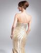 Syrena Bez ramiączek Tren Dotykający ziemi Taffeta Suknia dla Mamy Panny Młodej Z Perełki Cekiny (008015011)