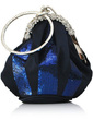 Shining Silk/Sequin With Rhinestone Wristlets/Bridal Purse (012032894)