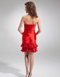 Kılıf Askısız Kısa/Mini Charmeuse Kokteyl Elbisesi (016008305)