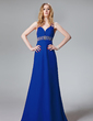 A-Line/Princess Sweetheart Floor-Length Chiffon Evening Dress With Ruffle Beading Sequins (017013093)
