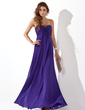 Empire Sweetheart Floor-Length Chiffon Evening Dress With Ruffle Beading (017020658)