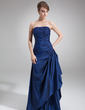 A-Line/Princess Strapless Floor-Length Taffeta Mother of the Bride Dress With Lace Beading Sequins Cascading Ruffles (008006462)