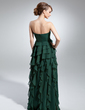 A-Line/Princess Strapless Floor-Length Chiffon Mother of the Bride Dress With Cascading Ruffles (008015062)