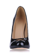 Women's Patent Leather Stiletto Heel Pumps Closed Toe shoes (085017507)