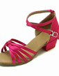 Kids' Satin Sandals Latin Ballroom With Ankle Strap Dance Shoes (053013545)