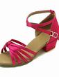 Çocuk Satin Sandalet Latin Balo Ile Ayakkabı Askısı Dans Ayakkabıları (053013545)