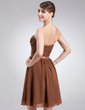 A-Line/Princess Sweetheart Knee-Length Chiffon Homecoming Dress With Ruffle (022020771)