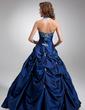 Balo Elbisesi Boyundan Bağlamalı Uzun Etekli Tafta Quinceanera (15 Yaş) Elbisesi Ile Nakışlı Boncuk (021004580)
