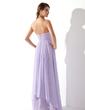 Çan/Prenses Kalp Kesimli Uzun Etekli Chiffon Mezuniyet Elbisesi Ile Büzgü Boncuklama (018004835)