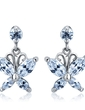 Butterfly Shaped Alloy With CZ Cubic Zirconia Women's Fashion Earrings (011036716)
