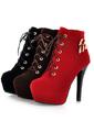 ante Tacón stilettos Plataforma Botas al tobillo con Hebilla zapatos (088054414)