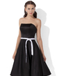 A-Line/Princess Sweetheart Knee-Length Satin Bridesmaid Dress With Sash (007000885)