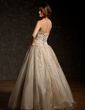 Ball-Gown Sweetheart Floor-Length Tulle Quinceanera Dress With Ruffle Beading Appliques Lace Sequins (021004679)