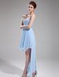 Çan/Prenses Kalp Kesimli Asimetrik Chiffon Mezunlar Gecesi Elbisesi (022010507)