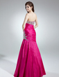 Trumpet/Mermaid Sweetheart Floor-Length Taffeta Prom Dress With Ruffle Beading (018016101)