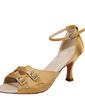 Women's Satin Heels Sandals Latin With Buckle Dance Shoes (053054531)