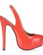 Women's Patent Leather Stiletto Heel Platform Pumps Slingbacks (047017464)