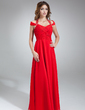 A-Line/Princess Halter Floor-Length Chiffon Prom Dress With Ruffle Beading (018016851)