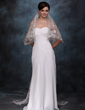 One-tier Chapel Bridal Veils With Scalloped Edge (006005411)
