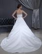 Corte de baile Estrapless Tren de la catedral Satén Vestido de novia con Encaje Lazo(s) (002012186)