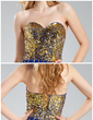 A-Line/Princess Sweetheart Asymmetrical Chiffon Sequined Prom Dress (018019680)