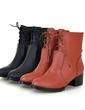 Suni deri Alçak Topuk Ayak bileği Boots Ile Bağcıklı ayakkabı (088056563)