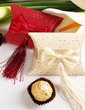 Elegant Pillow Favor Boxes With Tassels (Set of 12) (050012947)