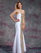 Trumpet/Mermaid Sweetheart Ankle-Length Taffeta Prom Dress With Beading Sequins (018019160)