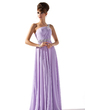 A-Line/Princess One-Shoulder Floor-Length Chiffon Prom Dress With Ruffle Beading Sequins (018013785)