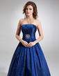 Ball-Gown Strapless Court Train Taffeta Quinceanera Dress With Ruffle Beading (021020757)