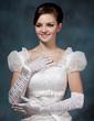 Elastic Satin Opera Length Bridal Gloves (014020509)
