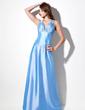 A-Line/Princess Sweetheart Floor-Length Taffeta Evening Dress With Ruffle Beading (017016059)