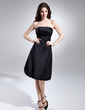 A-Line/Princess Strapless Knee-Length Taffeta Homecoming Dress With Ruffle (022015614)